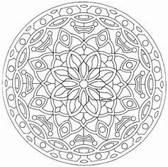 2018 best images about mandalas à colorier on pinterest