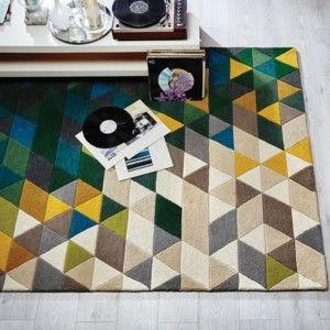 Covor Prism Green/Multi, 160x220 cm