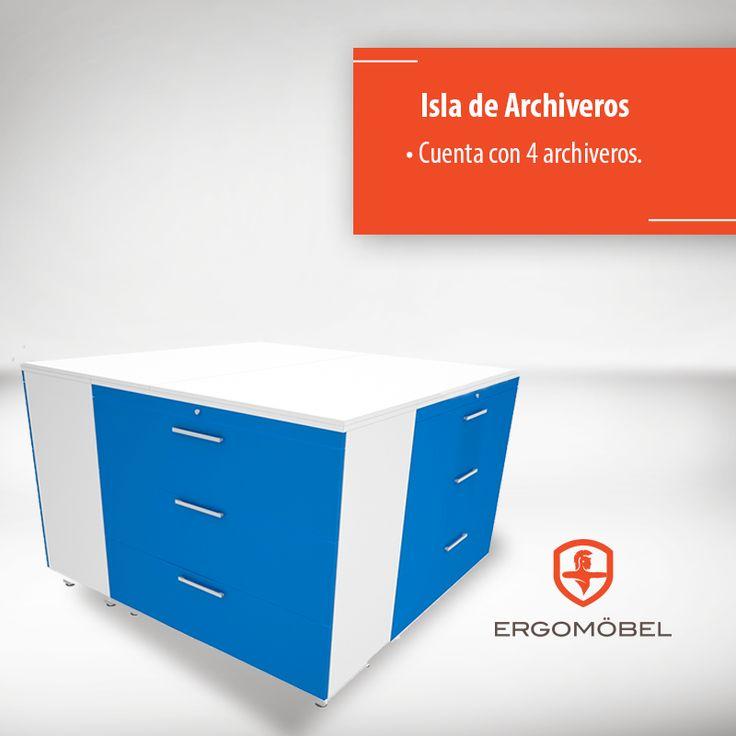 La mejor solución para organizar los documentos de tu oficina está en nuestra isla de archiveros.