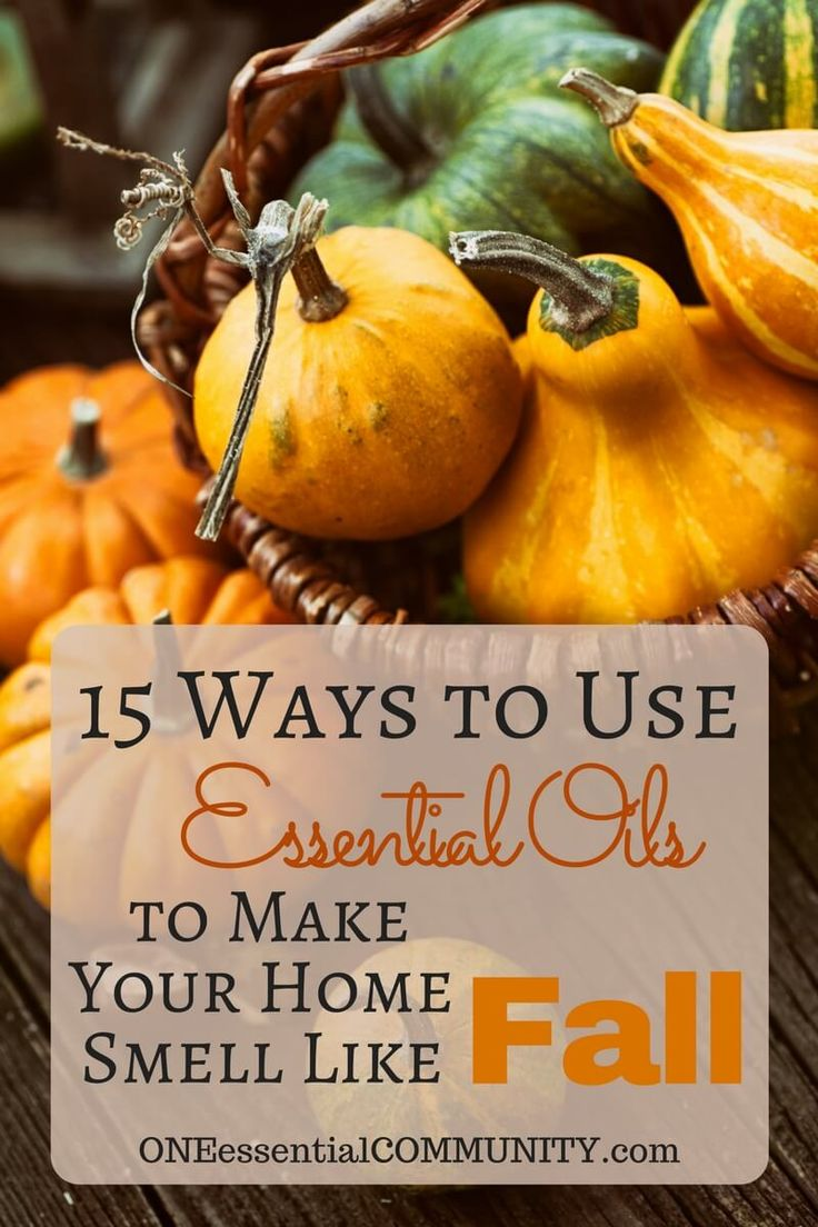 LOVE these recipes and tips for ways to use essential oils to make your home smell like fall - diffuser blends, room sprays, fabric refreshers, & more!