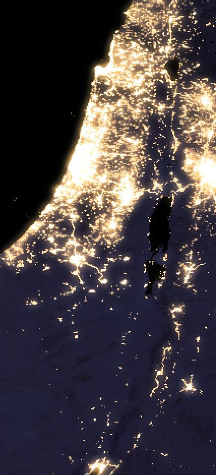 Palestine at night   Palestine in 2019   Israel, Israel ...