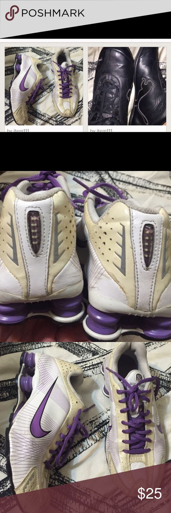 Two sneakers bundle Two pairs of sneakers both in excellent condition ,puma  and Nike shocks nike shoks and puma  Shoes Sneakers