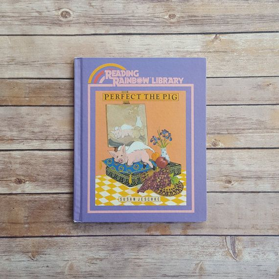 New in The Book Cottage: Reading Rainbow Library | Perfect the Pig By Susan Jeschke | 1980s Purple Kids Story | 80s Retro Tale About Differences | Piggie Cute Pink by TheBookCottage