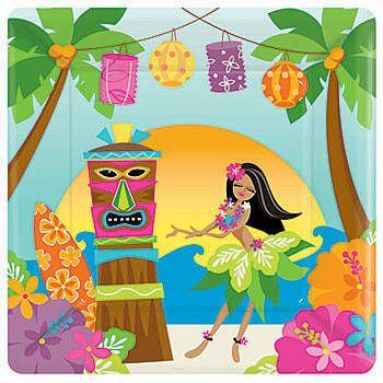 tropical+paper+napkins | luau party supplies luau party tableware luau theme tableware tweet  sc 1 st  Pinterest & 97 best tropical party ware images on Pinterest | Tropical party ...