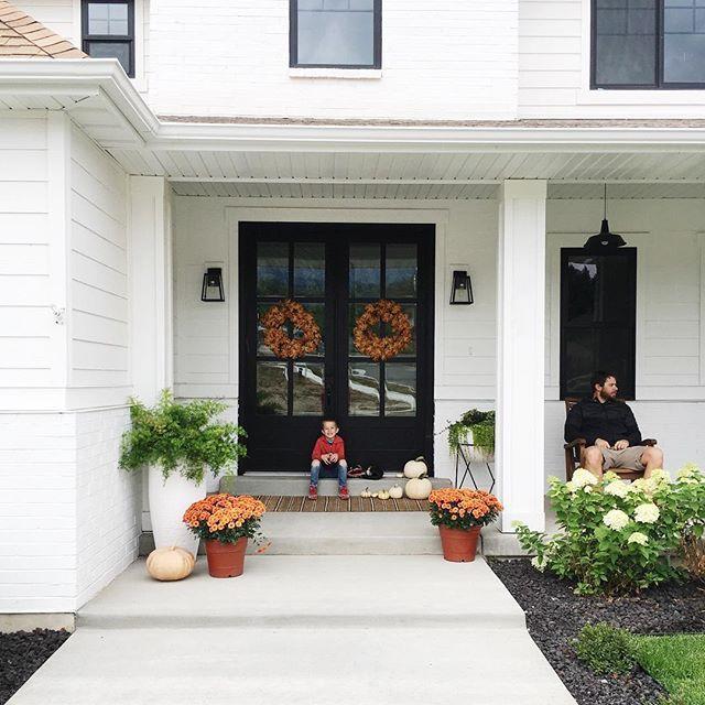 Autumn Modern Farm House Porch