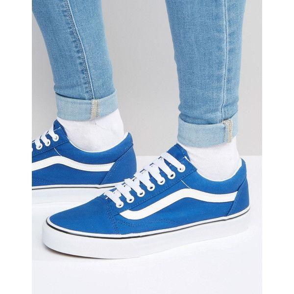 Vans Old Skool Canvas Trainers In Blue V3Z6IP1 Blue [doorsstore_ao160115143] - $39.99 : Vans Shop, Vans Shop in California