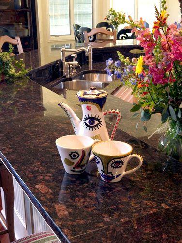 Tan brown granite kitchen countertop (Lakeside Stoneworks, Brown Deer, Wisconsin)