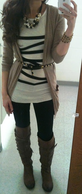 Layers/ over the knee boots