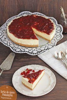 Tarta de queso philadelphia sin horno ymuy fácil Más