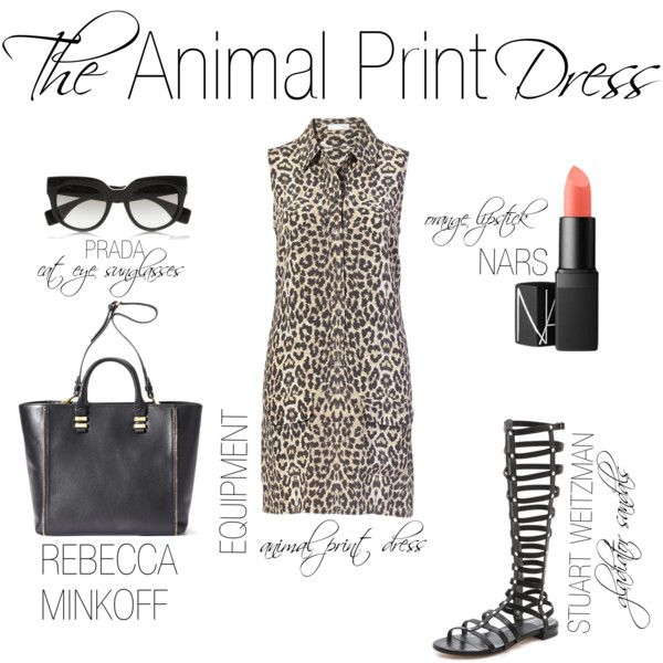 """""""The Animal Print Dress"""" by shopeluxe on Polyvore"""