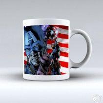 Avanger Captain America Super Hero White Mug