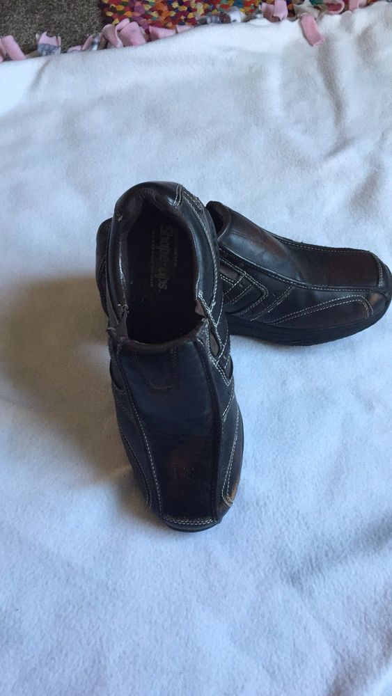 newest 58f45 9736d SKECHERS SHAPE-UPS BROWN LEATHER MEN S WALKING SLIP ONS SIZE 12  fashion   clothing  shoes  accessories  mensshoes  athleticshoes (ebay link)