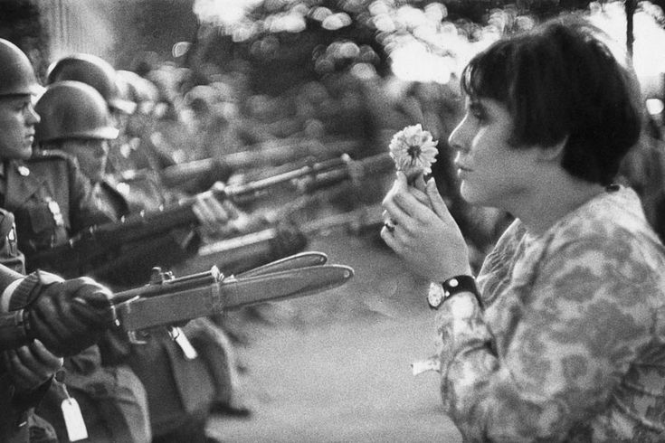 Washington D.C., October 21, 1967. During a march on the Pentagon to protest the…