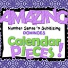 """You are going to have the most amazing, """"number-sense building"""" calendar this year! This set includes day and month labels, plus domino calendar pieces 1-31 for $2!"""
