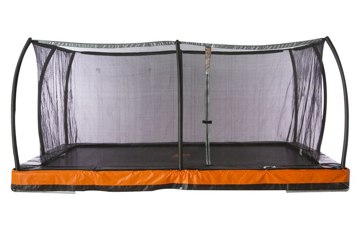 """Jump Power """"ASTM Safety Approved"""" Inground 12' x 8' Rectangle Trampoline with Patented Steel Flex Ring Safety Net Enclosure System Product Description: The Jump Power In-ground 12' x 8' Trampoline & S"""