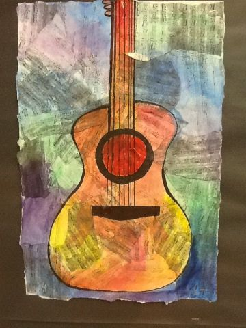 Less Talk, More Art: A middle school art ed blog: Jazz music collages