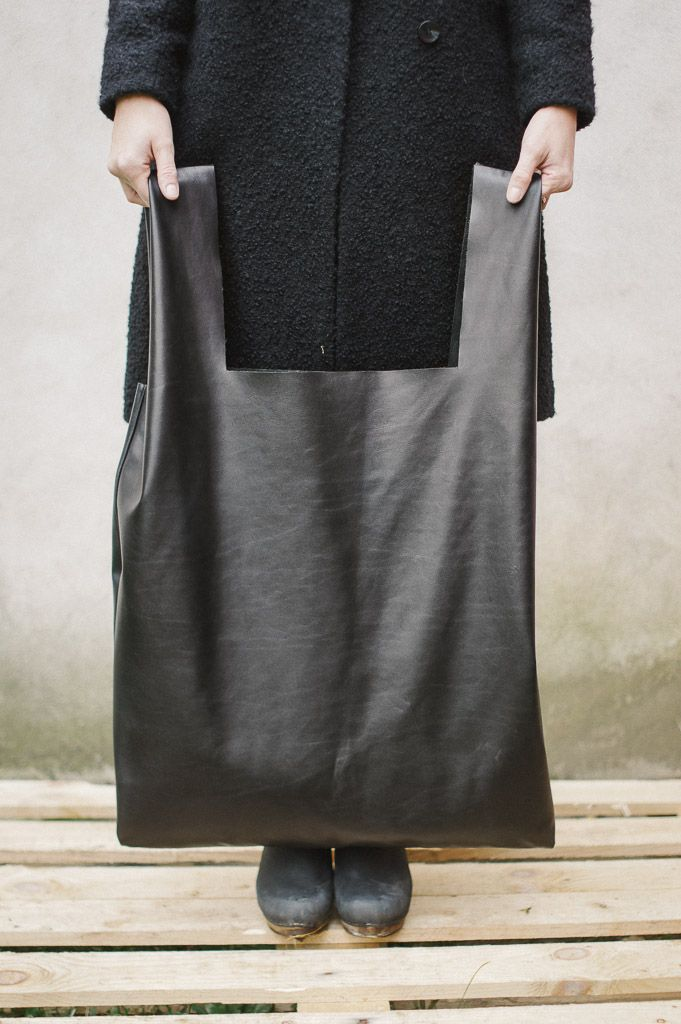 patkas black leather oversized shopper bag – PATKAS - BERLIN