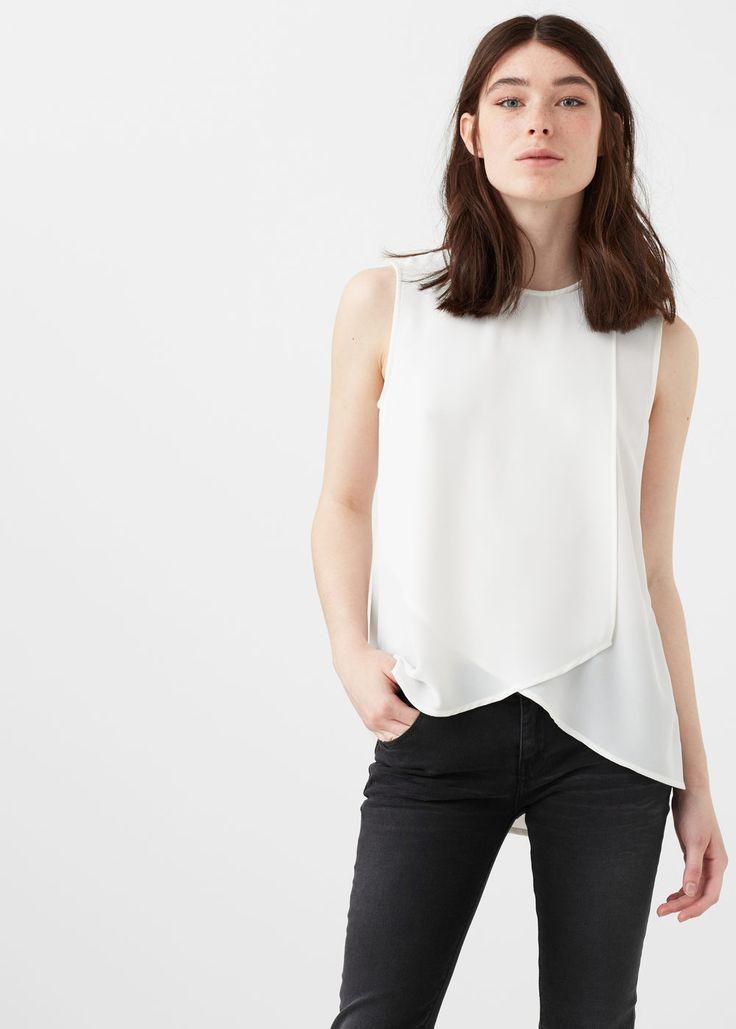 Blusa cruzada - Camisas de Mujer | MANGO España