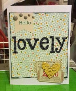hello lovely card by rosaliejb at Studio Calico