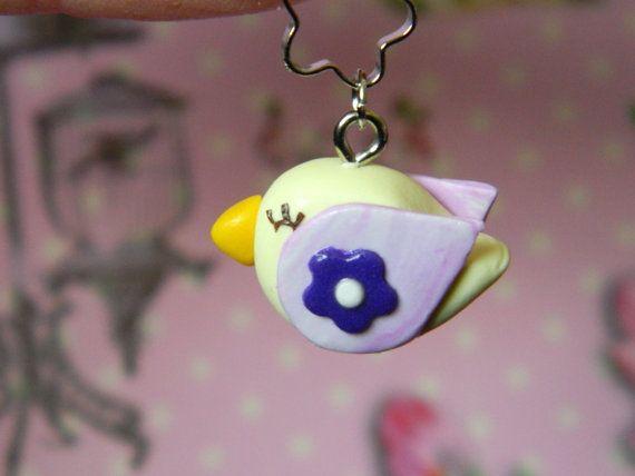 Oчаровательная маленькая птичка брелок для мобильных от EVAMARE