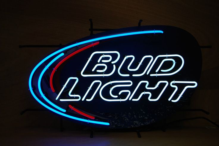 Bud Light Beer Neon Display Sign ~ Classic Logo ~ New ~ Packed Well & Insured