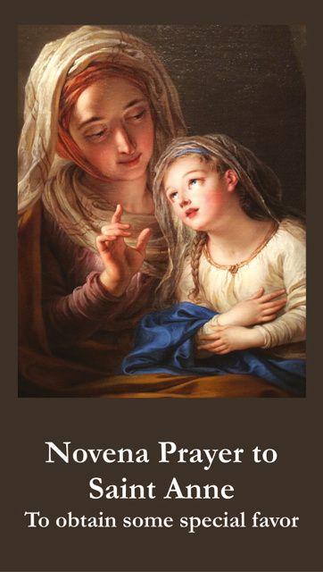 Novena to St. Anne Prayer Card