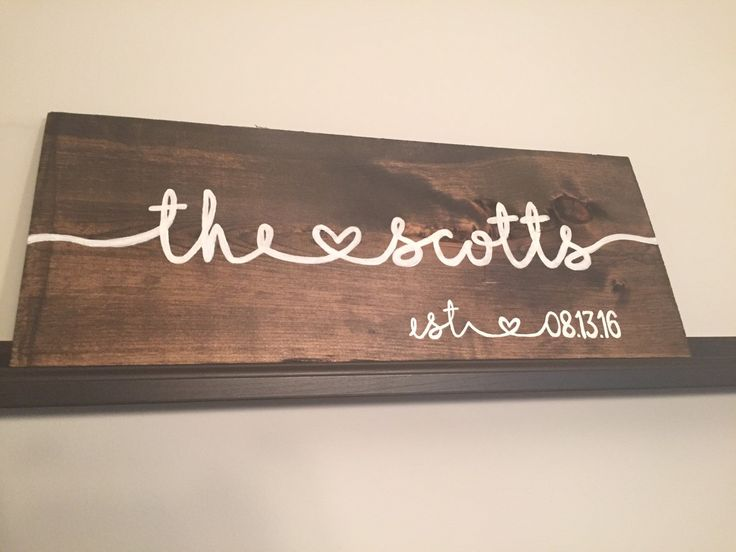 Custom Made Last Name Wood Sign with Wedding by StoneCitySigns