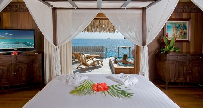 Hilton Bora Bora Nui Resort and Spa, French Polynesia - Royal Overwater Villa,  Bedroom