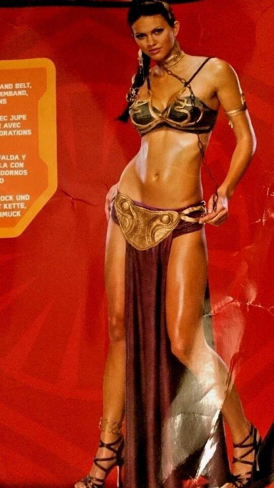 $49  Princess Leia Sz L Women's Jabba Slave Rubies Cosplay Halloween Costume #StarWarscom #CompleteOutfit #Halloween