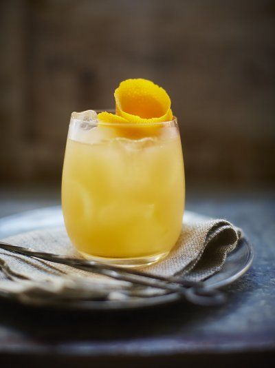 This treacle cocktail is sure to get you in the festive spirit; rum, cloudy apple juice and a few dashes orange bitter - delicious!