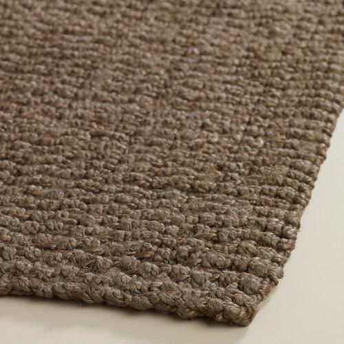 Charcoal Basket Weave Jute Rug World Market