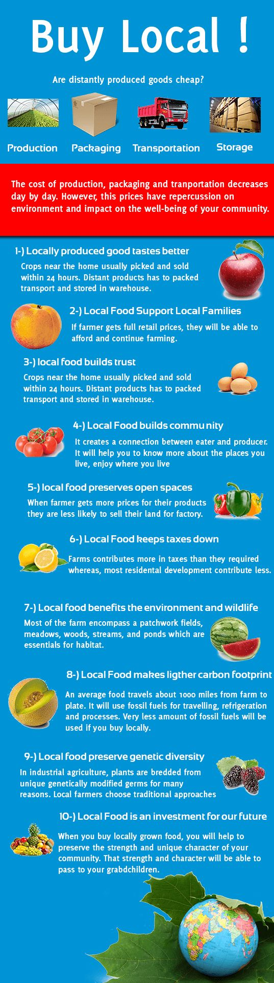 10 Reasons to Buy Locally Grown Food