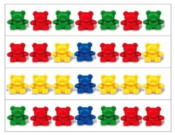 Teddy Bear Patterning Strips.  free but register for tpt