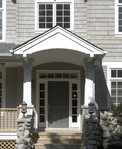 Traditional 6 Panel Door With Sidelights And Transom.