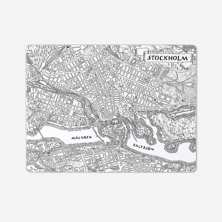 Underlägg Stockholmskartan | Svenskt Tenn