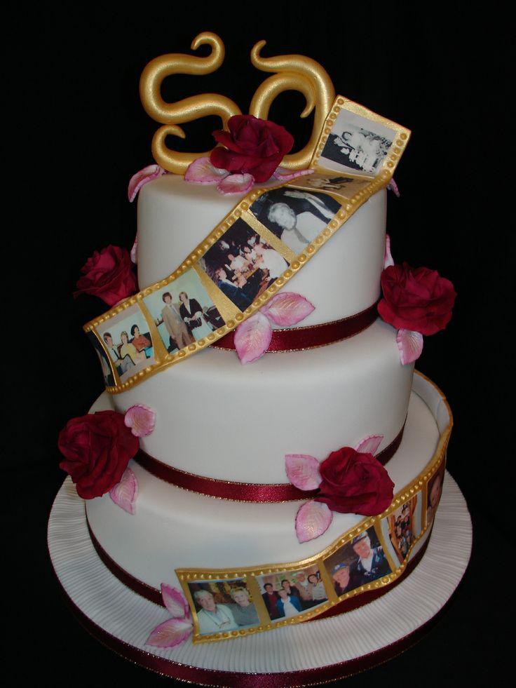 Mar 2017 My Mom Dad S 50th Golden Wedding Anniversary Cake