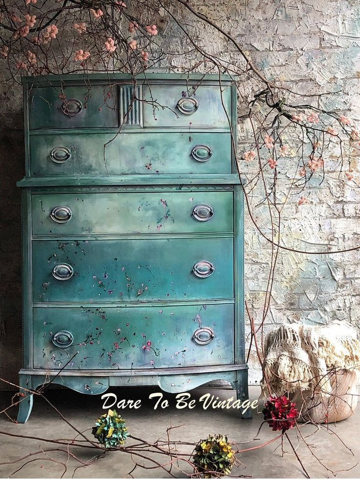 Sold Floral Hand Painted Vintage Dresser Hand Painted Dressers Painted Furniture Shabby Chic Dresser
