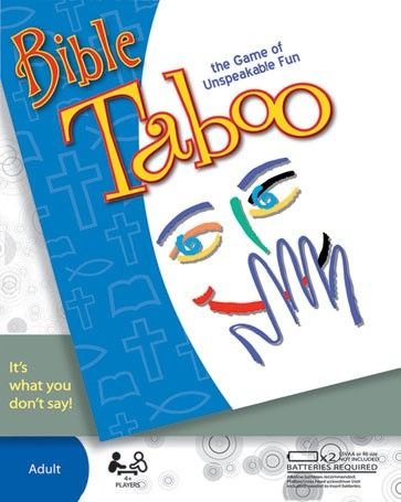 """How well do you know the stories of the Bible? To get your team to say """"Moses,"""" would you say, """"Prince,"""" """"Egypt,"""" """"Plagues,"""" """"Pharoah,"""" or """"Commandment?"""" In this game, you can't - because all of those words are strictly TABOO!    Rattle off clues while the time counts down. You'll earn a point each time your team guesses correctly. But watch what you say - if your opponents hear a taboo word, you'll get buzzed and they'll get the point!"""