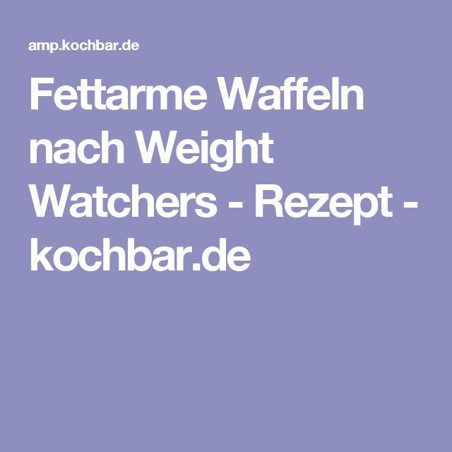 Fettarme Waffeln nach Weight Watchers - Rezept - kochbar.de