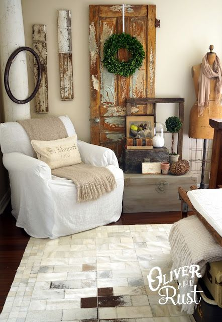 Oliver and Rust || upstairs vintage fall decor 2013