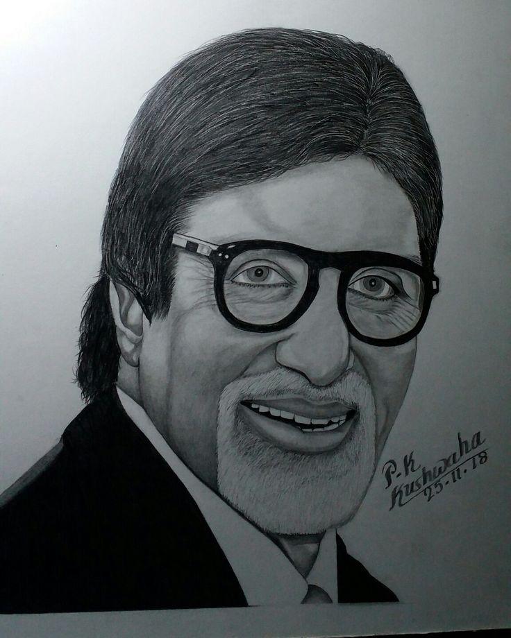 Pencile sketch of amitabh bachchan | Portrait sketches ...