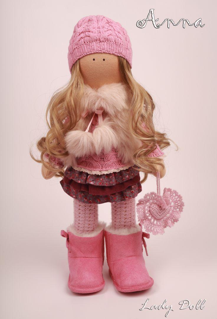 Интерьерная кукла Anna ручной работы