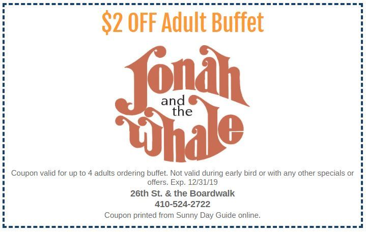 Jonah And The Whale Ocmd S Original Seafood Buffet Ocean City Cool Ocean City Jonah And The Whale Ocean City Md