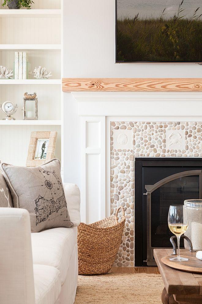 Coastal Fireplace Design Fabulous Idea For A Beach House