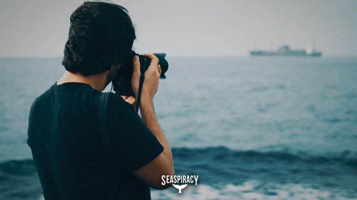 Behind the scenes shot of Ali filming an industrial fishing ship out at sea. Did you know one in every five fish consumed globally are caught ILLEGALLY?  Commercial fishing operations including illegal and criminal activities are for the most part out of sight and out of mind since the crimes occur so far off shore and laws are near impossible to enforce.  #Seaspiracy #BehindTheScenes #BTS