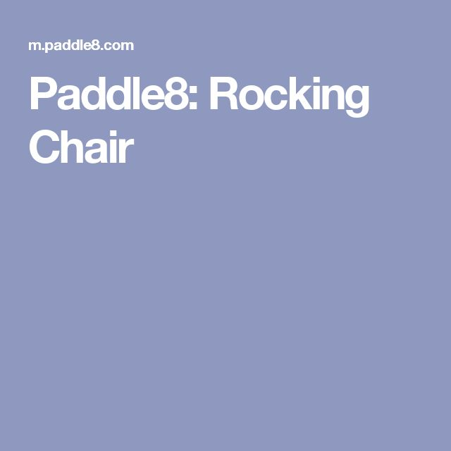 Paddle8: Rocking Chair