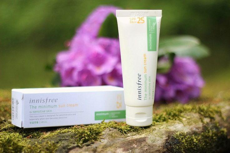Innisfree The Minimum Sun Cream SPF25 (Fragrance & Alcohol Free) | Koreai Fizikai Fényvédő : *Oh My Brush* | Beauty Makeup Blog