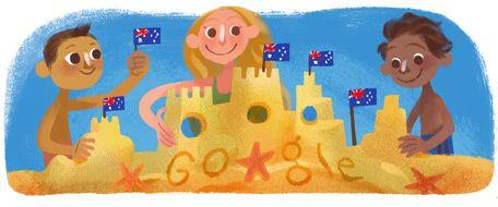 Google Doodles-Australia Day 2015