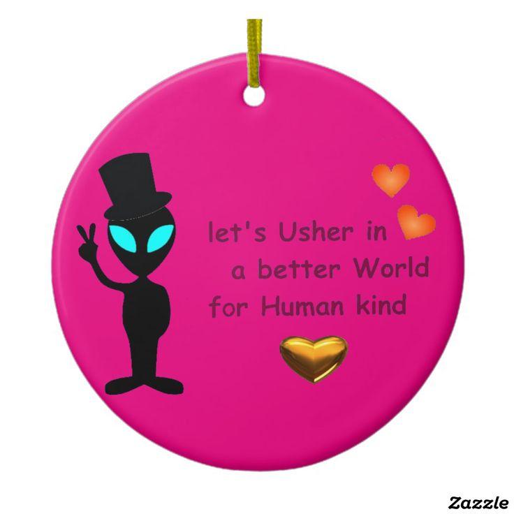 Sweet Alien Call Circle Ornament