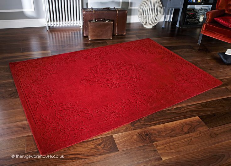 Imperial Red Rug A Handmade 100 Wool With Hand Carved Design